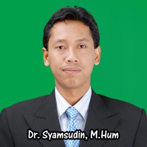 Dr. Syamsudin M.Hum